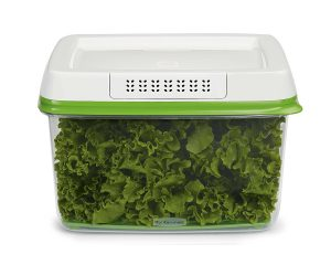 Rubbermaid FreshWorks Produce Saver Food Storage Container, Large, 17.3 Cup, Green $7.91