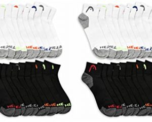 HEAD Men's Athletic Socks, 20-Pairs $19.99
