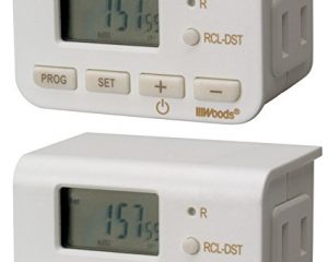 Woods 50007WD Indoor 24-Hour Digital Plug-In Timer, 2 Pack, 1 Polarized Outlet $3.37