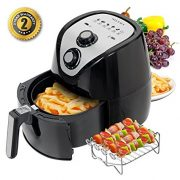 Secura 1500 Watt Large Capacity 3.2-Liter, 3.4 QT., Electric Hot Air Fryer with Accessories $69.95