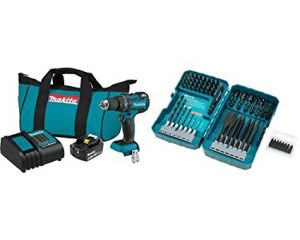 Makita Lithium-Ion Compact Brushless Cordless 1/2″ Driver Drill Kit  70 piece set $135.74