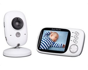 Baby Monitor 3.2inch LCD Display Video Baby Monitor with Night Vision and Temperature Monitoring and Lullabies $52.49