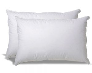 Overfilled Down Alternative Back / Set of 2 Side Sleeper Pillow – Hypoallergenic Fill – 100% Cotton Ticking  $39.99