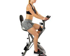 Sunny Health & Fitness Foldable Semi Recumbent Magnetic Upright Exercise Bike $129.99