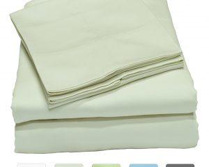 300 Thread Count 100% Cotton Sheet Set, Soft Sateen Weave, Full Sheets $28.49