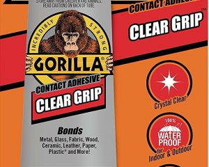 Gorilla 8040001 Clear Grip Contact Adhesive, 3 Oz, Clear $4.84