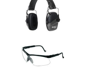 Howard Leight by Honeywell Impact Sport Sound Amplification Electronic Shooting Black Earmuff with Genesis Sharp-Shooter Shooting Glasses $39.99