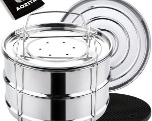 Aozita Stackable Steamer Insert Pans with Sling for Instant Pot Only $22.64