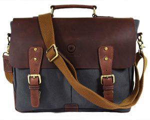 Vintage Crossbody with Multiple Compartments & Zippered Pockets By Aaron Leather  $37.49