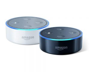 Echo Dot (2nd Generation) 2-Pack (Black and White) $49.98
