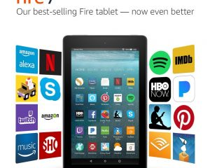 Fire 7 Tablet with Alexa, 7″ Display, 8 GB, Black – with Special Offers $29.99