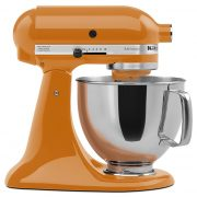 KitchenAid KSM150PSTG Artisan Series 5-Qt. Stand Mixer with Pouring Shield – Tangerine $209.99