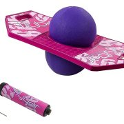 Flybar Pogo Ball Trick Board With Grip Tape & Ball Pump For Kids Ages 6 & Up – 5 Colors Available $18.99