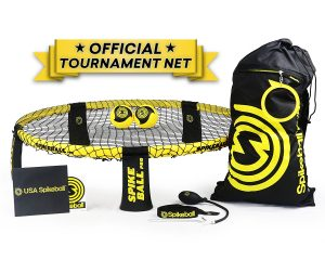Spikeball Pro Kit (Tournament Edition) – Includes Upgraded Stronger Playing Net, New Balls Designed to Add Spin, Portable Ball Pump Gauge, Backpack, Official Serving Line $69.99