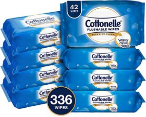 Cottonelle FreshCare Flushable Wipes, 336 Flushable Wet Wipes (Eight 42-Count Resealable Soft Packs) (Packaging May Vary), Lightly Scented $9.89