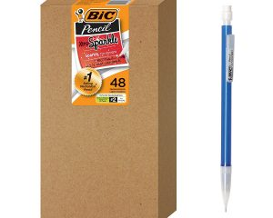 BIC Xtra Sparkle Mechanical Pencil, Colorful Barrel, Medium Point (0.7 mm), 48-Count $8