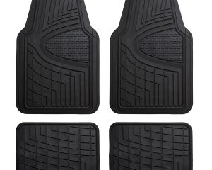 FH Group Heavy Duty Tall Channel F11311BLACK Rubber Floor Mat Black Full Set Trim to Fit $14.21