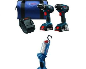 Bosch 18-Volt Cordless Drill Driver/Impact Combo Kit with 2 Batteries, 18V Charger, Blue Carrying Case and Articulating LED Worklight $165.74