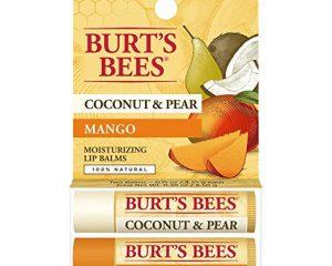 Burt's Bees Moisturizing Lip Balm, Coconut & Pear and Mango – 2 Tubes Only $2.84