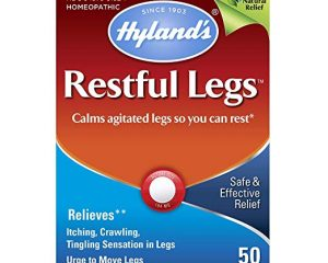 Hyland's Restful Legs Tablets, Natural Itching, Crawling, Tingling and Leg Jerk Relief, 50 Count $4.01
