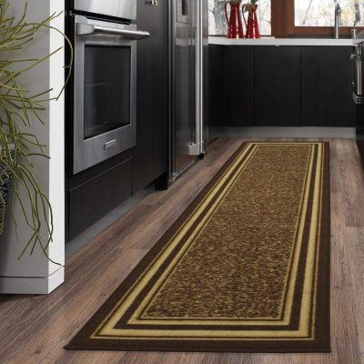 Protect Your Floors With The Ottomanson Ottohome Collection Runner Rug Non Skid Slip Rubber Backing 20 X 59 In Brown