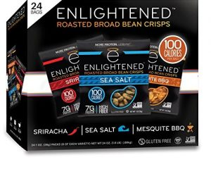 Enlightened Plant Protein Gluten Free Roasted Broad (Fava) Bean Snack, Variety Pack, 1.0 oz, 24 Count $16.12