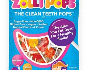 Zollipops The Clean Teeth Pops, Anti Cavity Lollipops, Delicious Assorted Flavors, 75 Count $15.27