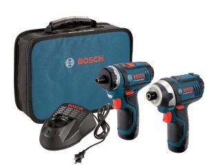 Bosch CLPK27-120 12-Volt Max Lithium-Ion 2-Tool Combo Kit (Drill/Driver and Impact Driver) with 2 Batteries, Charger and Case $98