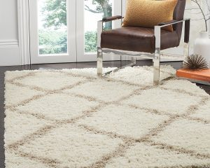 Safavieh Dallas Shag Collection SGD257B Ivory and Beige Area Rug (8′ x 10′) $130.35