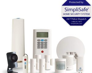 SimpliSafe 12-Piece Home Security System with HD Camera & Smoke Detector $199.99