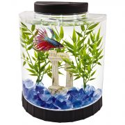 Tetra LED Half Moon Betta Aquarium, Betta Fish Tank (29049) $9.89