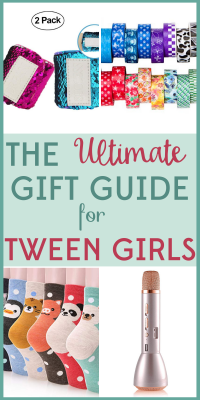 Kids get harder to shop for as they get older! You'll find the perfect present with our gift guide for tween girls!