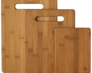 Totally Bamboo 3-Piece Bamboo Serving and Cutting Board Set $8.78