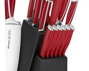 Save 30% On 15 Pcs Knife Set in block Red
