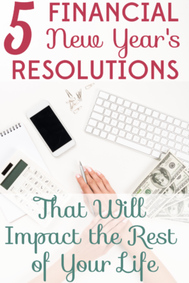 Take charge of your finances! These 5 financial New Year's resolutions will help you build wealth and financial stability for years to come.