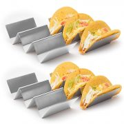 4 Pack – Stylish Stainless Steel Taco Holder Stand $16.68