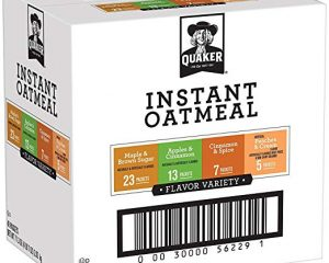 Quaker Instant Oatmeal Variety Pack, Breakfast Cereal, 48 Count $9.60