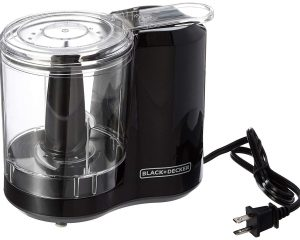 BLACK+DECKER 3-Cup Electric Food Chopper, Improved Assembly, Black, HC300B $14