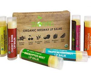 USDA Organic Lip Balm by Sky Organics – 6 Pack Assorted Flavors $8.95