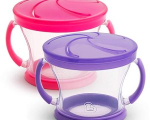 Munchkin Snack Catcher 2 Piece, Pink/Purple $3.99