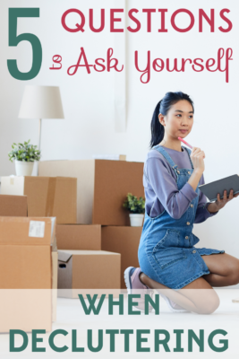 Not everything can spark joy! These five questions will help you decide what to keep and what to toss when you're decluttering.