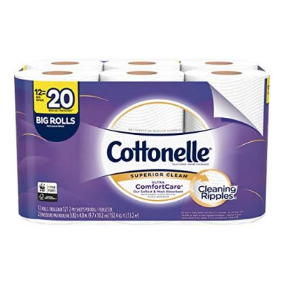 COTTONELLE ULTRA COMFORTCARE TOILET PAPER SOFT BIODEGRADABLE BATH TISSUE SEPTIC SAFE 12 BIG ROLLS 6