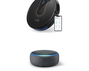 Save on the eufy RoboVac 15C and Robovac 15C with an Echo Dot (3rd Gen)