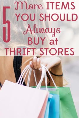 You can find hidden treasures at thrift stores if you know the best things to look for! Always shop these 5 items when you buy second-hand.