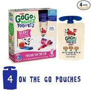 GoGo squeeZ YogurtZ, Berry, 3 Ounce (4 Pouches), Low Fat Yogurt $2.08