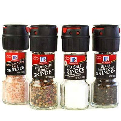 McCormick Salt And Pepper Grinders Himalayan Pink Salt Peppercorn Medley Sea Salt Black Peppercorn 1107