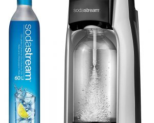 SodaStream Jet Sparkling Water Machine (Silver), with CO2 and BPA free Bottle $58.99