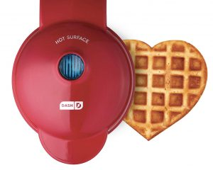 Dash DMW001HR Mini Heart Maker Waffle Iron, Shaped Goodness, Red $11.99