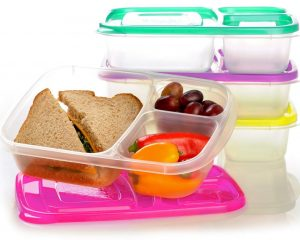 EasyLunchboxes 3-Compartment Bento Lunch Box Containers, Set of 4, Brights $10.45