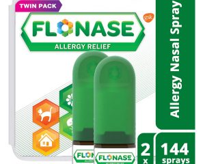 Flonase Allergy Relief Nasal Spray, Allergy Medicine 24 Hour Non-Drowsy , 288 sprays (pack of 2) $23.99